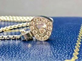 Collier Chopard Happy Diamonds coeur Or gris Montjoux