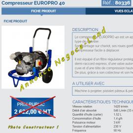 Compresseur à air Europro 40 Euromair Project  Toulouse