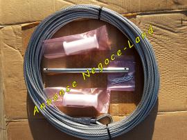 Kit de maintenance Monte charge Altrad Mont-Vit : câble de levage en 35m - 2 rouleaux guide câble - tige métallique  Toulouse